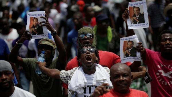 Manifestation dans les rues de Port-au-Prince. (Photo d'illustration)