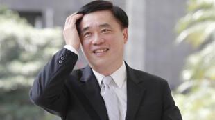 圖為國民黨副主席郝龍斌