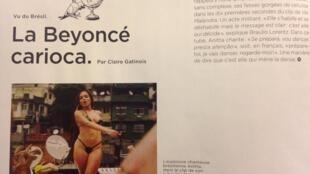 A cantora brasileira Anitta é destaque na revista do Le Monde