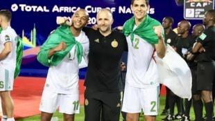 Djamel Belmadi, le sélectionneur de l'équipe d'Algérie, champion d'Afrique.