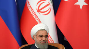 Tổng thống Iran Hassan Rouhani trong thượng đỉnh Thổ-Nga-Iran tại Tehran, 7/9/2018.