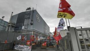Les salariés de General Electric à Belfort avaient bloqué la principale entrée du site pour protester contre le plan social. (photo d'illustration)