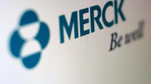 Le logo du laboratoire Merck, producteur du Levothyrox, utilisé dans le traitement des dysfonctionnements de la thyroïde.
