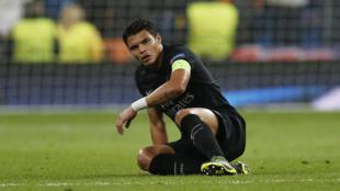 Capitão do PSG, Thiago Silva.