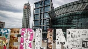 La gare centrale de Berlin.