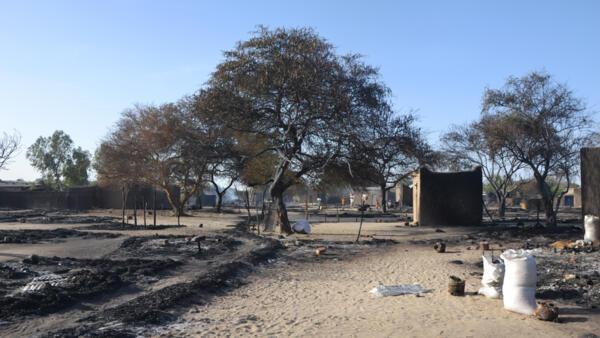 Деревня Нгубуа в Чаде, сильно постратавшая в результате нападения «Боко Харам»