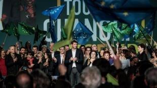 Предвыборный митинг «зеленых» в Лионе, 10 апреля 2019 г.