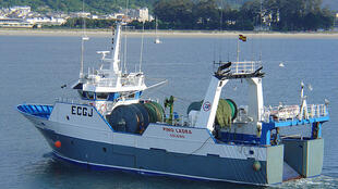 A bottom trawler in Spain