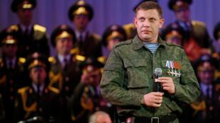 """Alexander Zakharchenko, lãnh đạo ly khai nước """"Cộng Hòa Nhân Dân Donetsk"""" tự xưng trong một sự kiện ở Donetsk ngày 27/10/2014."""