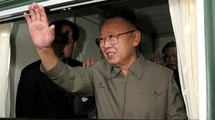 North Korean leader Kim Jong-il during his visit to an undisclosed place in China