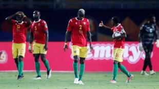 Les Guinéens surclassés par les Algériens en huitièmes de finale de la CAN 2019.