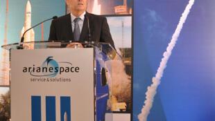 Ông J.Y Le Gall, một trong ba thành viên sáng lập Arianespace phát biểu về các dự án tương lai của Airbus Group - DR