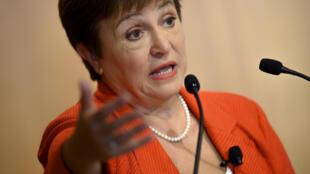 Kristalina Georgieva, directora gerente del FMI, el 17 de enero de 2020 en Washington