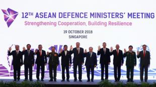 Hội Nghị các bộ trưởng Quốc Phòng ASEAN tại Singapore ngày 19/10/2018.