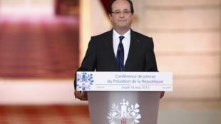 François Hollande gives his bi-annual press conference.