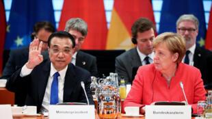 2018年7月9日中國總理李克強到訪德國