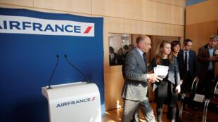 Jean-Marc Janaillac, PCA da Air France-KLM, a 4 de Maio em Paris.
