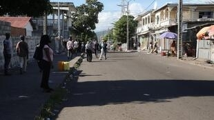 Une rue à Moroni, aux Comores, en mars 2019.