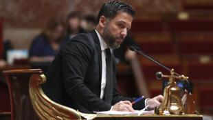 Hugues Renson, le 28 juillet 2017, à Paris, à l'Assemblée Nationale.