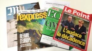 Capas de magazines news franceses de 02 de julho de 2016