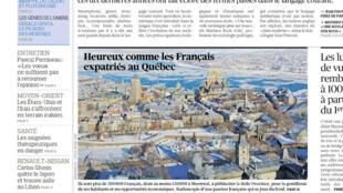 Capa do jornal Le Figaro desta terça-feira, 31 de dezembro de 2019, com chamada para a matéria sobre o balanço do primeiro ano do governo Bolsonaro.