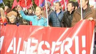 Манифестация оппозиции в Кишиневе 03/10/2013