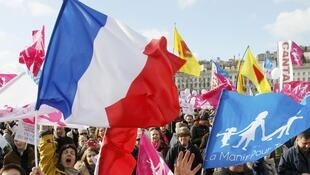 Part of the crowd on Sunday's Manif pour Tous demonstration in Paris