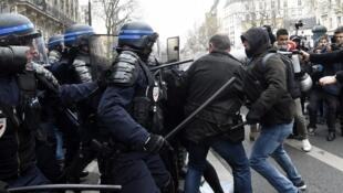 Houve incidentes em Paris, Rouen e Nantes.
