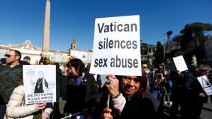 """""""Marcha por una tolerancia cero"""". Roma, 23 de febrero de 2019."""