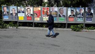 Предвыборные афиши кандидатов в президенты Франции, Ницца, 10 апреля 2017