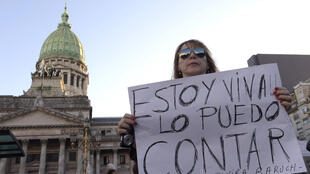 Manifestación en Argentina en 2015 organizada por 'Ni una menos'.