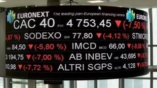 La bourse de Paris avait gravement chuté le 9 mars 2020 avant de se reprendre.