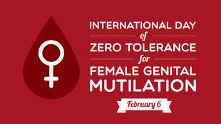 Poster from February marking the international day of zero tolerance for FGM