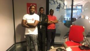 Ahmed Njikam, Stanislas Langanfin et Eric Amiens.
