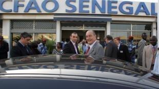 Jacques Chirac, l'ancien président français, en déplacement au Sénégal, en décembre 2007.