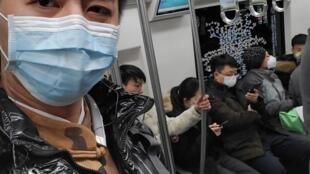 公民記者陳秋實,照片發布時間,1月21日。取自其推特。