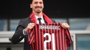 Zlatan Ibrahimovic vient de s'engager auprès de l'AC Milan.