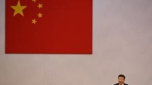 Le président chinois Xi Jinping lors d'un discours à Hong Kong, le 1er juillet 2017. (Image d'illustration)