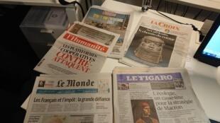 Diarios franceses  22 .11.2018