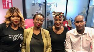 Charlotte Kalala, fondatrice Congo Na Paris ; Sally Tiote, créatrice des marchés d'Aya et Baila Sarr, président du comité Miss Peul.