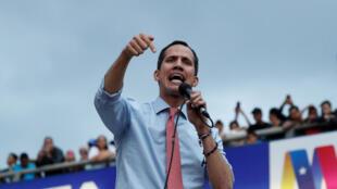 Juan Guaido, président autoproclamé par intérim du Venezuela, mardi 12 mars à Caracas.