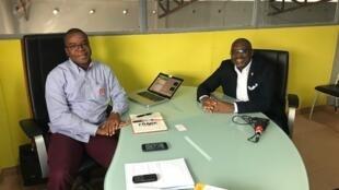 Alexis Indenge (à gauche) et François Ngenyi, les deux fondateurs de l'incubateur Ingenious City.