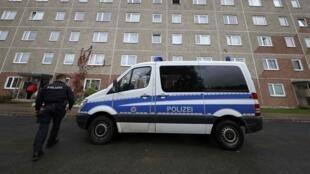 Полицейские в городе Зуль (Тюрингия), 25 октября 2016.