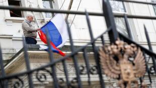 Посольство РФ в Лондоне, 14 марта 2018.