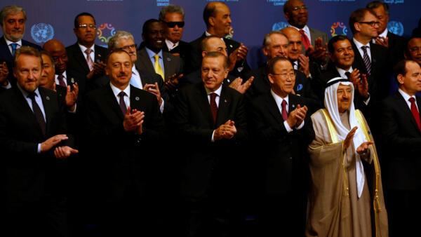 Turkish President Recep Tayyip Erdoğan and UN Secretary General Ban Ki-moon at the opening of the World Humanitarian Summit