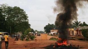 Tensions dans les rues de Bangui le 29 octobre 2013.