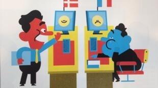 As empresas dinamarquesas tentam adotar o modelo de felicidade no trabalho em suas filiais na França.