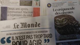 Imprensa francesa desta Segunda-feira 6 de Maio 2019.