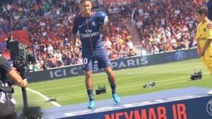 Apresentação da nova estrela do Paris Saint-Germain no Parc des Princes