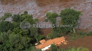 house is seen in an area next to a dam owned by Brazilian miner Vale SA that burst, in Brumadinho, Brazil January 25, 2019.